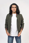 Parachute Bomber Jacket With Contrast Rib