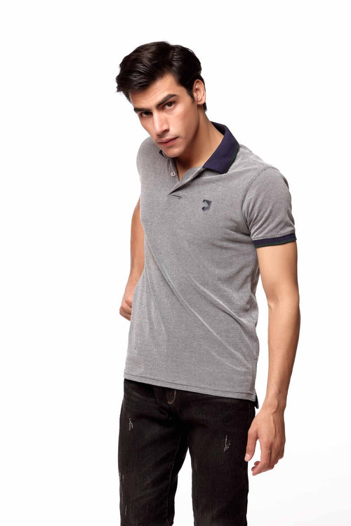 Grey Heather Polo