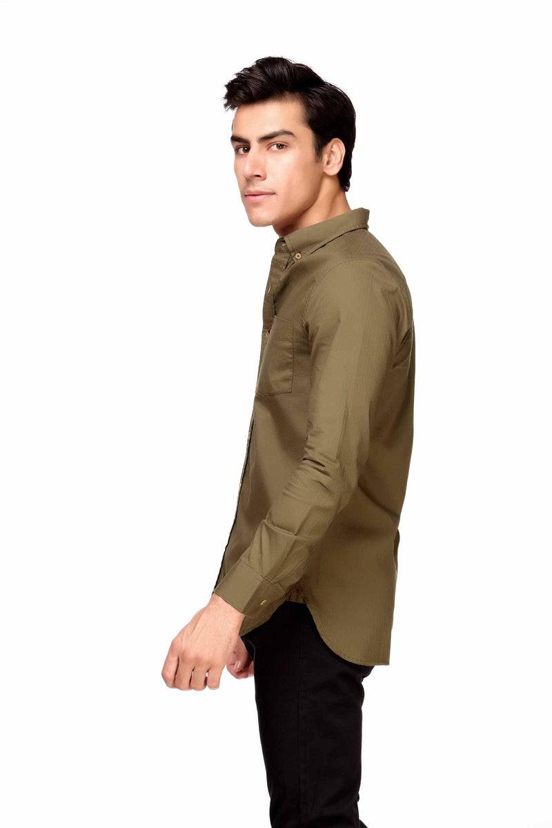 Olive Green Casual Shirt