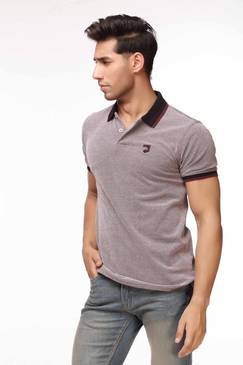 Purple Melange Polo