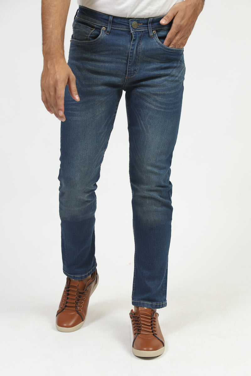 Blue Rinsed Wash Jeans