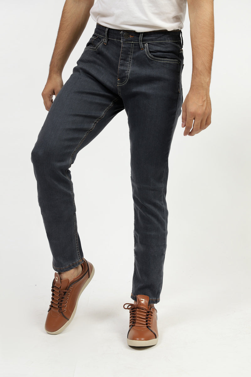 Faded Jeans With Contrast Stitch