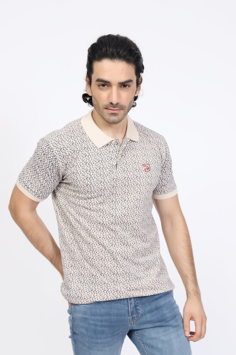 Fawn All-Over Printed Polo