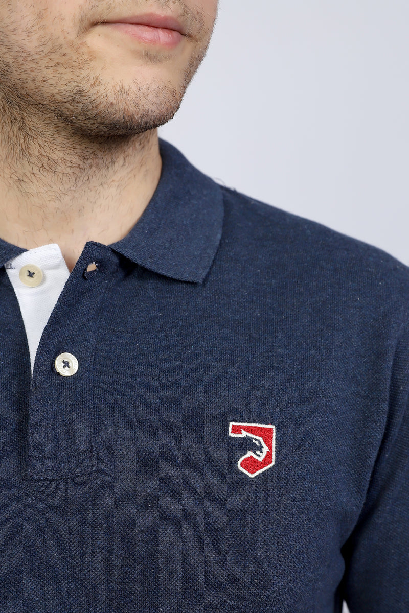 Navy Blue Logo Polo