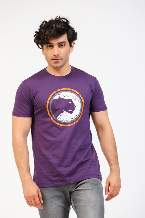 Purple Cougar Logo Tee