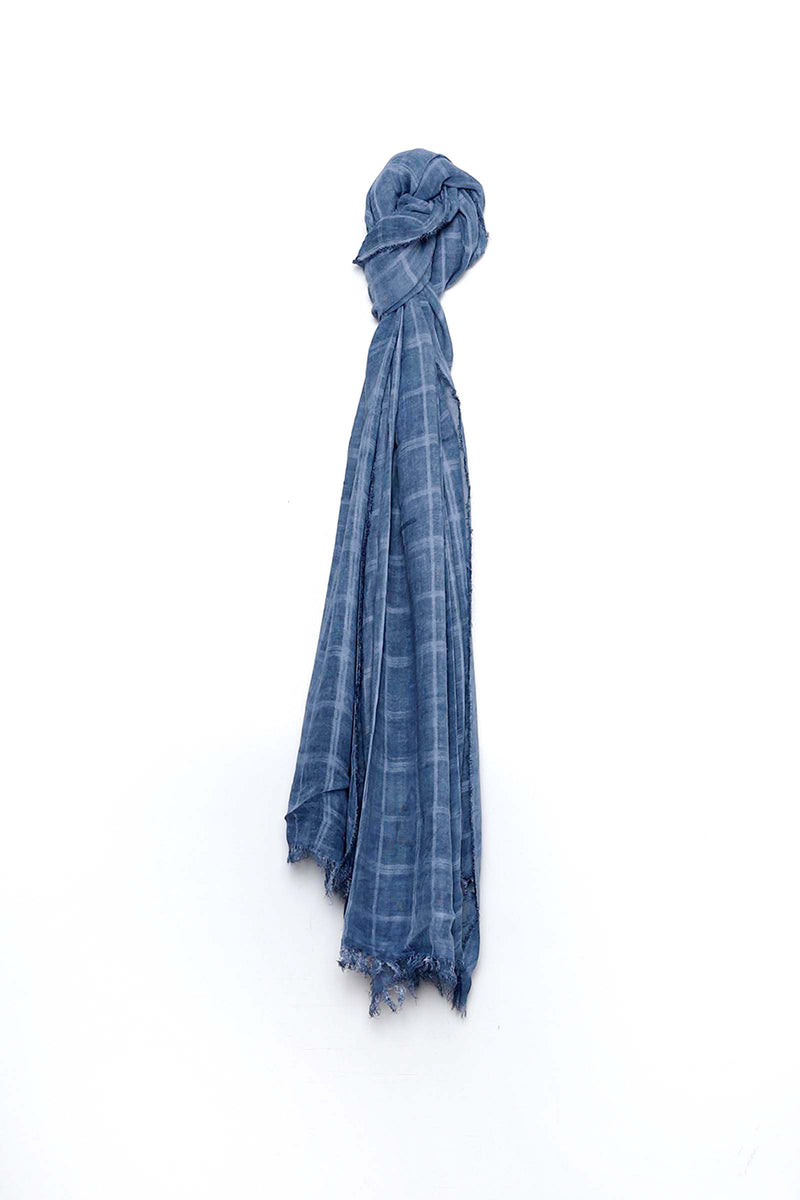 Checkered Blue Scarf