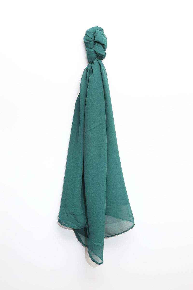 Dark Green Solid Scarf