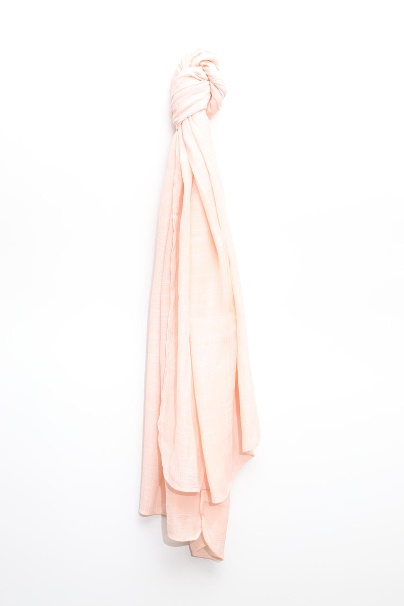 Light Peach Solid Scarf