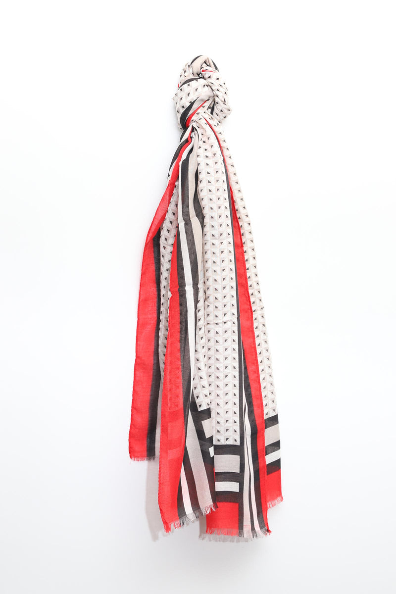 Scarf with Dots & Lines