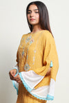 Embroidered Yellow Top