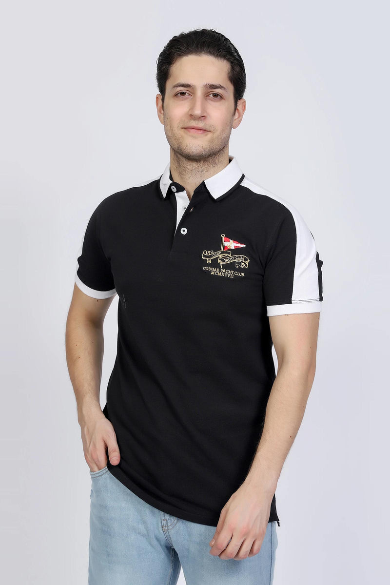Black Two Toned Polo