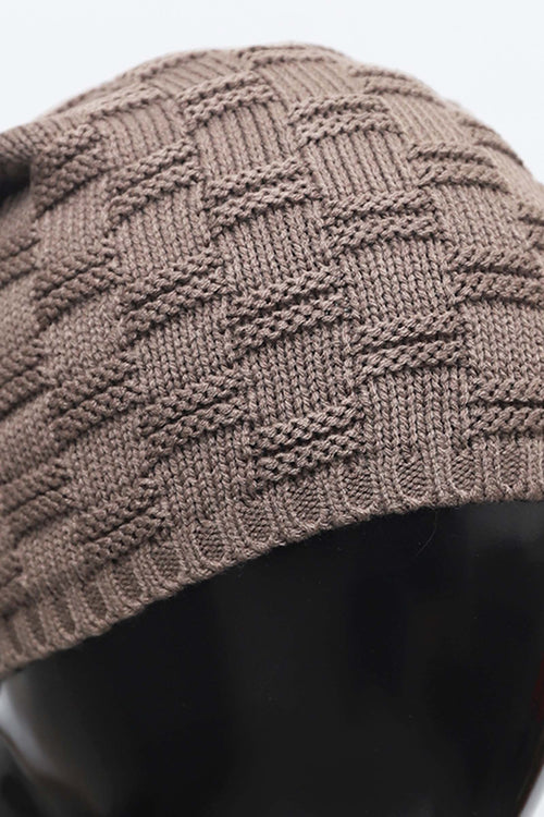 Square Knit Beanie