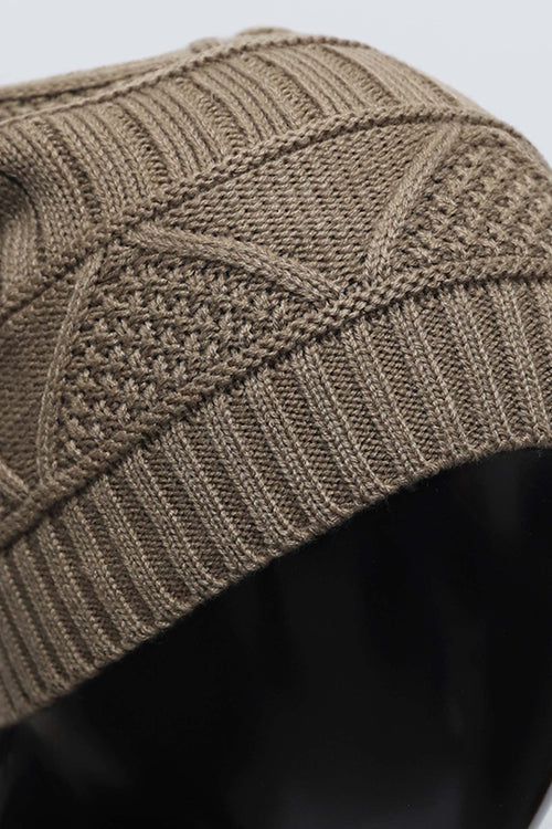Triangle Knit Pattern Beanie