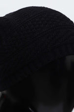 Multi Textured Cable Knit Beanie