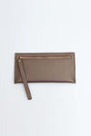 Brown Wallet With Back Zip Pocket