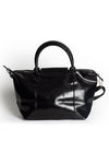 Black Faux Leather Bag