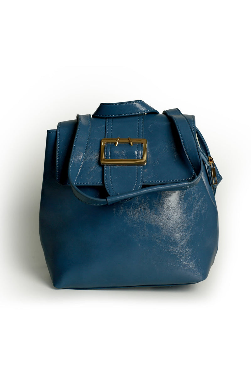 Blue Buckle Bag