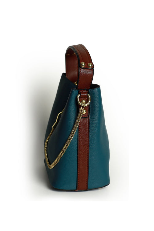 Teal Chain Bag
