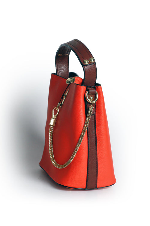 Orange Chain Bag