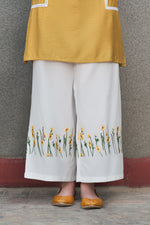 Embroidered Sunflower Trouser