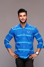 Sea Blue Striped Shirt