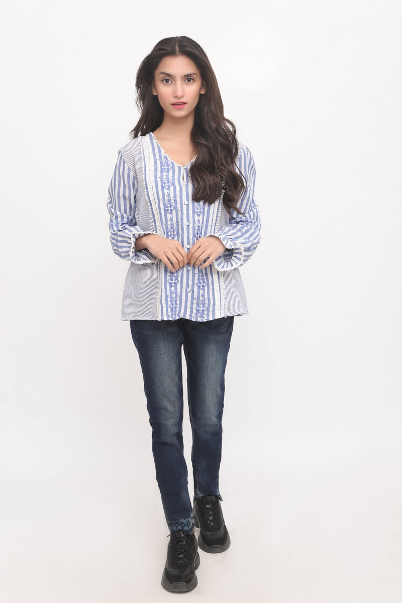 Ethnic Blue Top