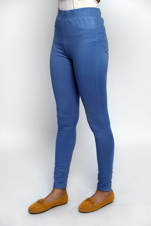 Chic Blue Jeggings