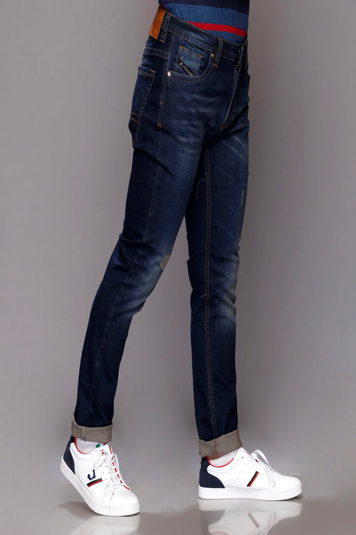 Dark Blue Denim Jeans
