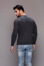 Solid Gray Basic Sweater