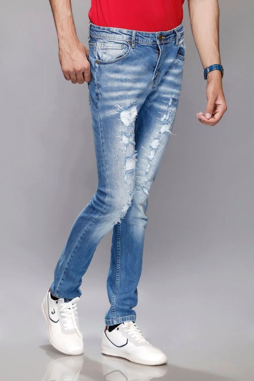 Light Blue Faded Jeans