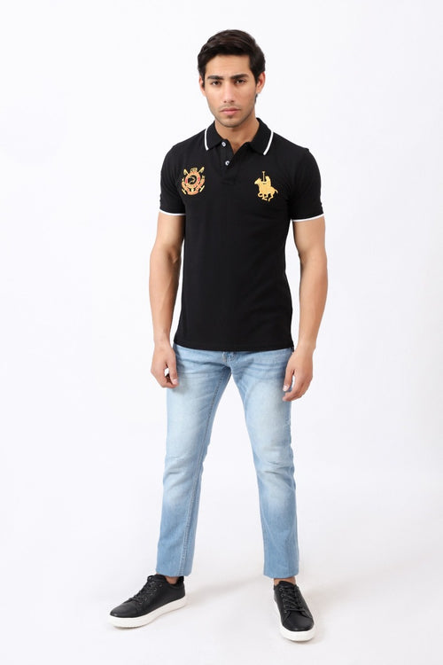 Ebony Black Polo Shirt
