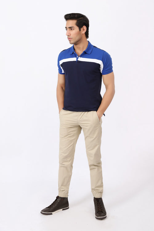 Two Toned Polo Shirt