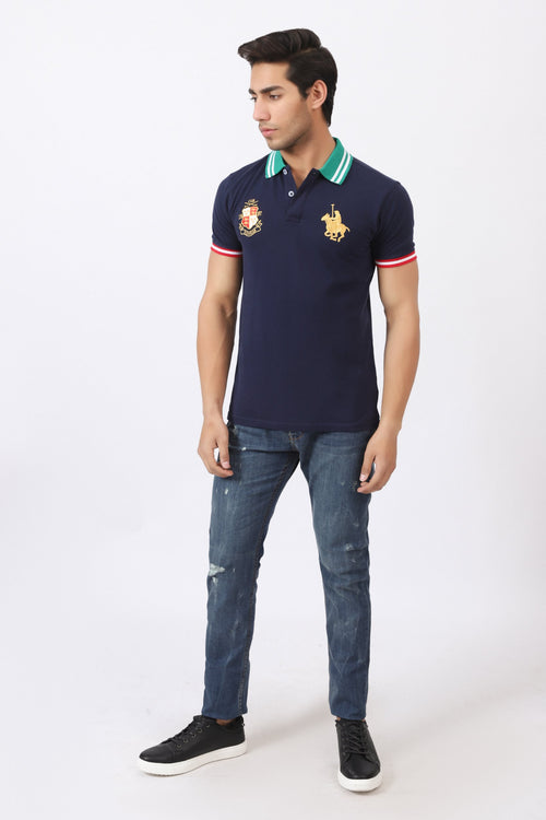 Mystic Blue Polo Shirt