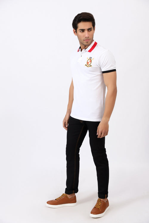 White Logo Polo Shirt