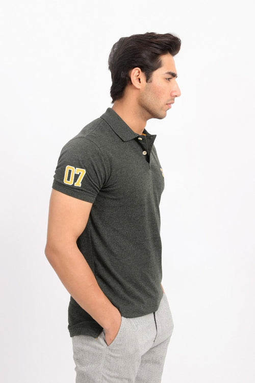 Dark Speckled Polo Shirt