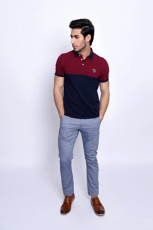 Maroon Collared Polo