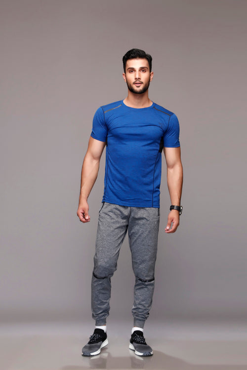 Textured Blue T-shirt
