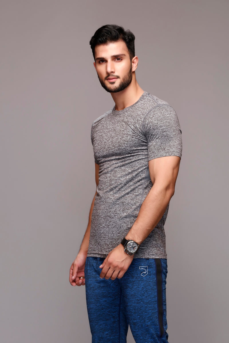 Trout Textured Grey T-Shirt