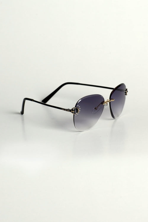 Blue Diamante Sunglasses
