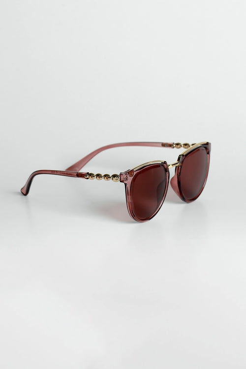 Metallic Pink Sunglasses