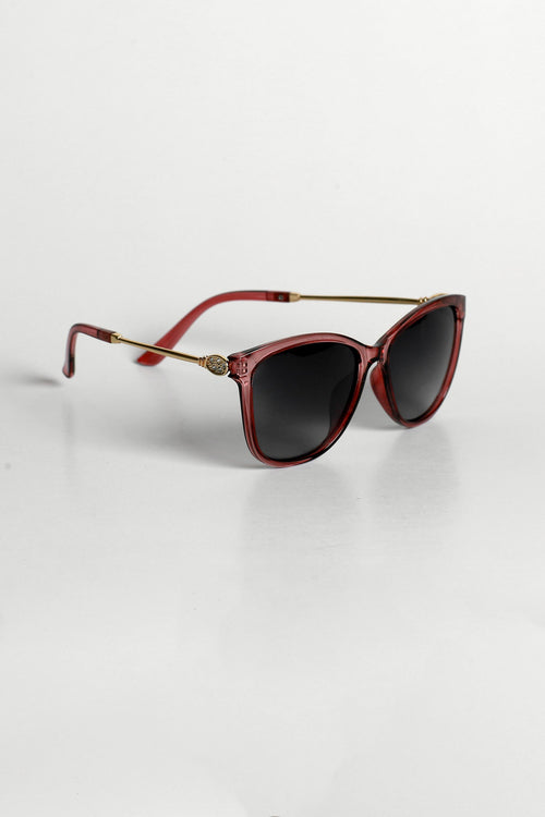 Brown Faceted Sunglasses