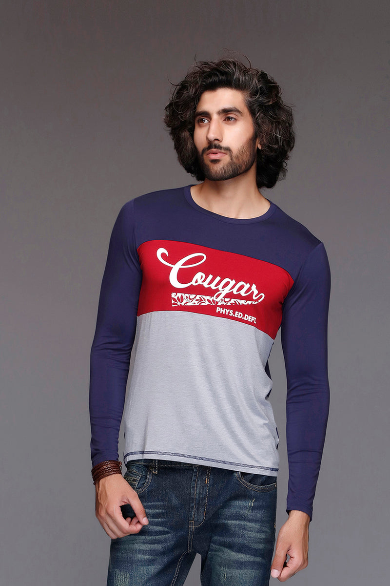 Navy Signature Cougar T-Shirt
