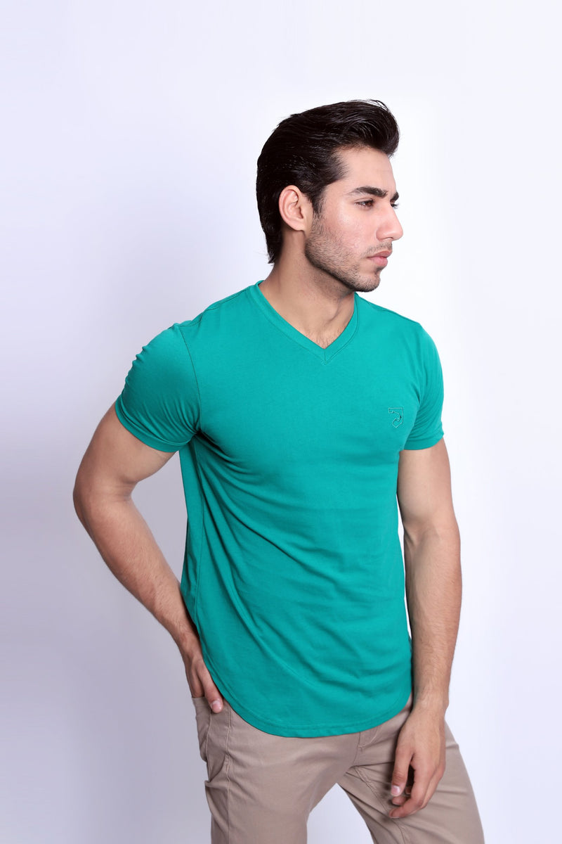 Green V-Neck T-Shirt