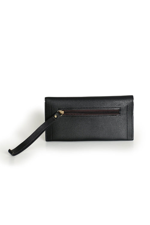 Black  Flap Clutch
