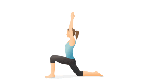 Illustration of a person performing the lunge pose