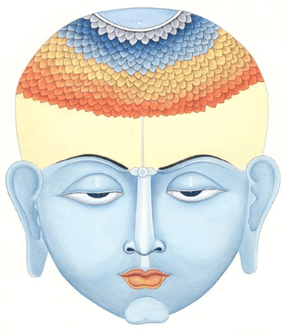 An illustration of Bouddha