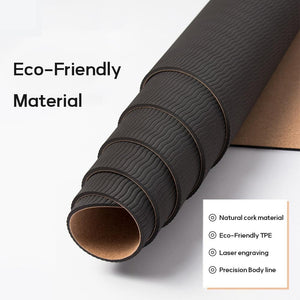 Position Line Eco Friendly Cork Yoga Mat