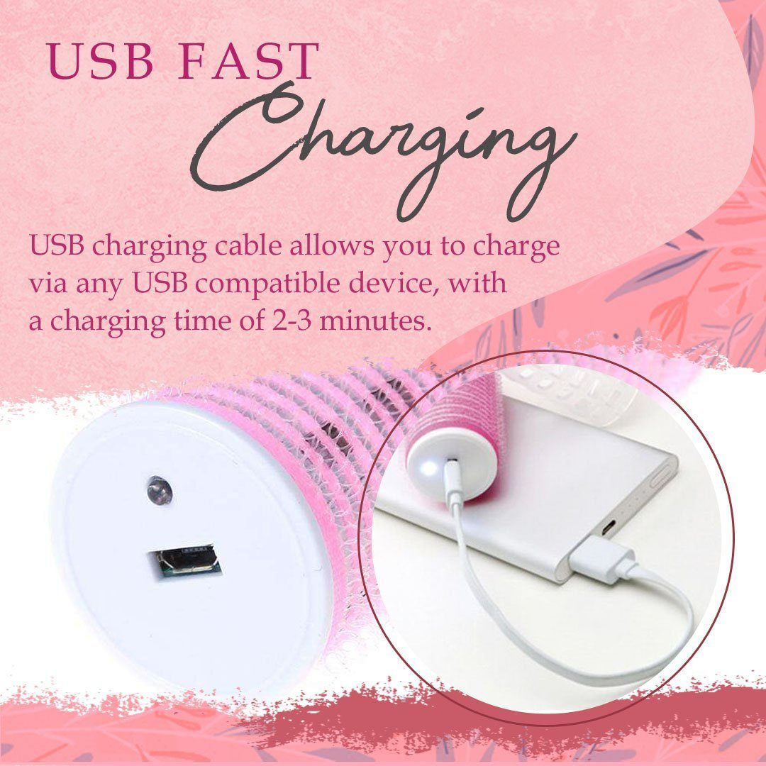 USB Heating Hair Curling Roller