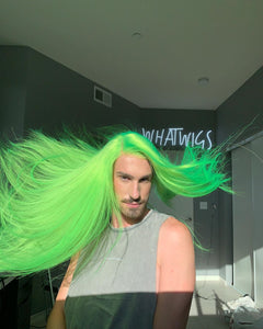 (✨NEW) GREEN COLORSHAIR WAVE WIGB 100%  HUMAN HAIR