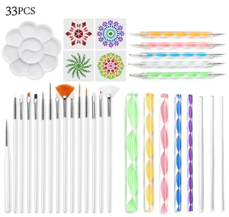 33PCS MANDALA DOTTING TOOLS